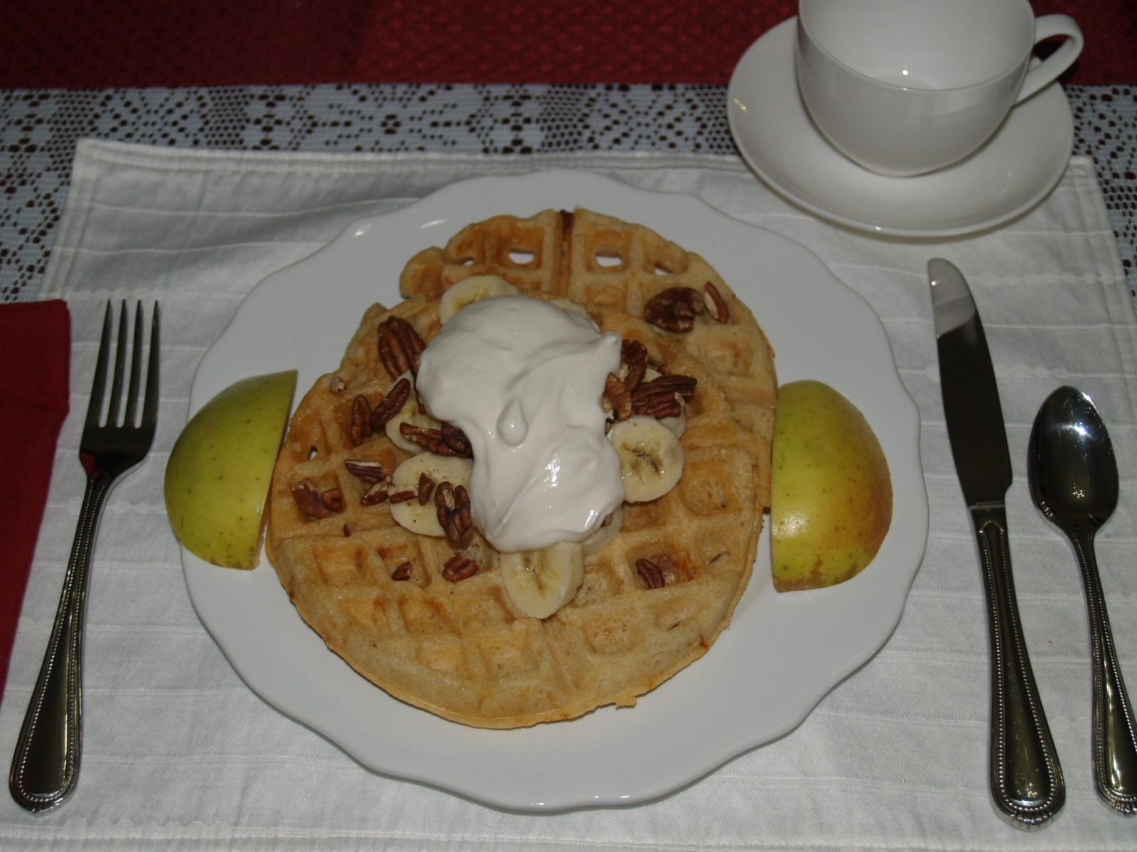Picture of Banana-Pecan Waffle at McMullen House